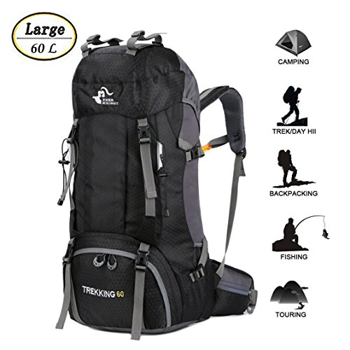 60L-Waterproof-Ultra-Lightweight-Packable-Climbing-Fishing-Traveling-Backpack-Hiking-DaypackBackpackHandy-Foldable-Camping-Outdoor-Backpack-Bag-with-a-Rain-Cover-0