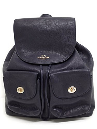 Coach-Pebbled-Leather-Backpack-F37410-Black-0