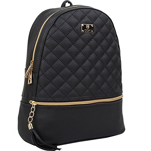 Copi-Womens-Simple-Design-Fashion-Quilted-Casual-Backpack-0