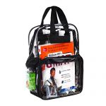Heavy-Duty-Clear-See-Through-Transparent-Backpack-for-School-Students-BookBag-WorkBag-Daypack-Easy-Stadium-Security-Check-Bag-Black-Reinforced-Adjustable-shoulder-straps-for-extra-durability-0-0