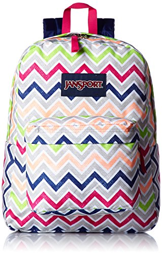 JanSport-Mens-Superbreak-Back-Pack-Cyber-Pink-Summer-Chevron-One-Size-0
