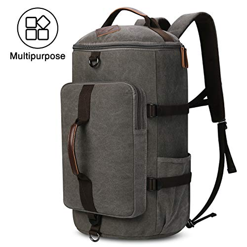 Mens-Canvas-Backpack-Travel-Duffel-Backpack-Bag-Large-School-Bookbag-3-In-1-0