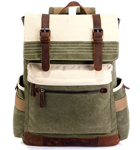 SUVOM-Canvas-Backpack-Vintage-School-Backpack-Stylish-Travel-Rucksack-15-inches-Laptop-Backpack-for-Women-Men-0