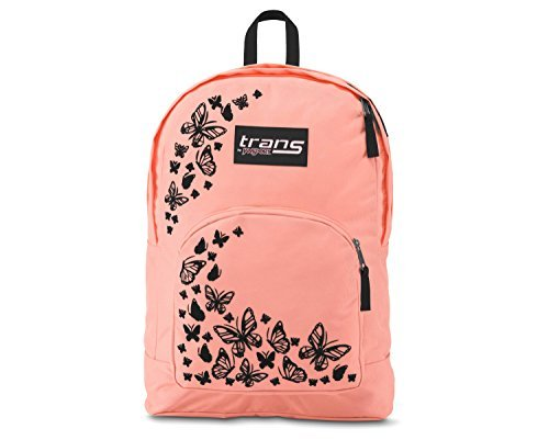 Trans-by-JanSport-Over-175-Backpack-Butterfly-Print-CoralBlack-Laptop-Sleeve-0