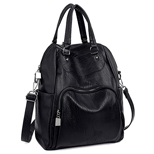 UTO-Women-Backpack-Purse-PU-Washed-Leather-Convertible-Ladies-Rucksack-Crossbody-Shoulder-Bag-0
