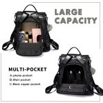 Women-Backpack-Purse-Waterproof-Nylon-Anti-theft-Rucksack-Lightweight-School-Shoulder-Bag-0-3