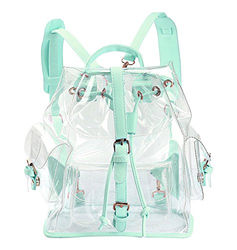 Zicac-Clear-Backpack-Drawstring-Transparent-Backpack-For-Girls-PVC-Bag-Satchel-0