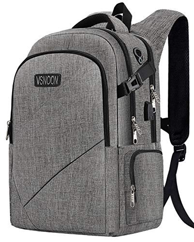 Business-Laptop-Backpack-Anti-Theft-Travel-Lapto-p-Backpacks-for-Women-Men-with-USB-Charging-PortHeadphone-Interface-Large-Compartment-College-School-Bag-Fits-17-Inch-LaptopNotebook-0