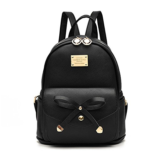 Girls-Bowknot-Cute-Leather-Backpack-Mini-Backpack-Purse-for-Women-0