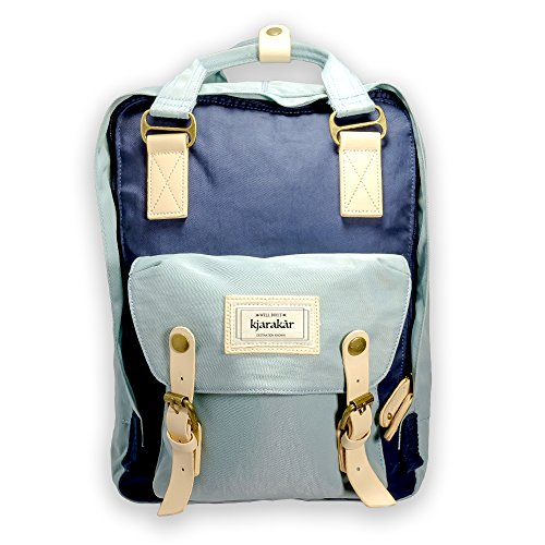 Kjarakr-Vintage-Backpack-School-bookbag-Best-Laptop-Bag-Weekender-Satchel-Diaper-Bag-Water-Resistant-0