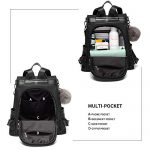 Women-Backpack-Purse-Nylon-Anti-theft-Waterproof-Casual-Convertible-Rucksack-Lightweight-School-Shoulder-Bag-0-2