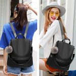 Women-Backpack-Purse-Nylon-Anti-theft-Waterproof-Casual-Convertible-Rucksack-Lightweight-School-Shoulder-Bag-0-5