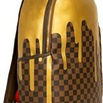 Sprayground-Unisex-Adult-Gold-Checker-Drips-Backpack-0-0