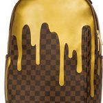 Sprayground-Unisex-Adult-Gold-Checker-Drips-Backpack-0